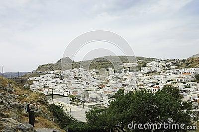 Lindos scenic view