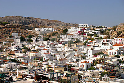 Lindos viewed from the Acropolis