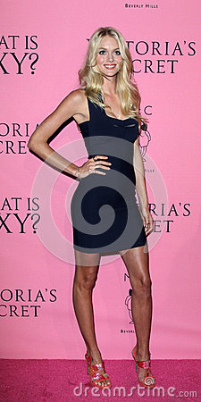 Lindsay Ellingson arrives at the Victoria s Secret What Is Sexy? Party Editorial Stock Image