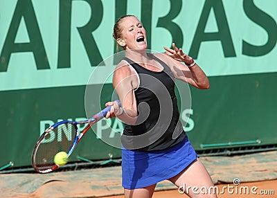Lindsay Lee-Waters (USA) at Roland Garros 2011 Editorial Image