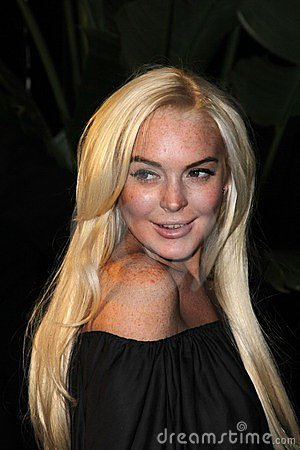 Lindsay Lohan Immagine Editoriale