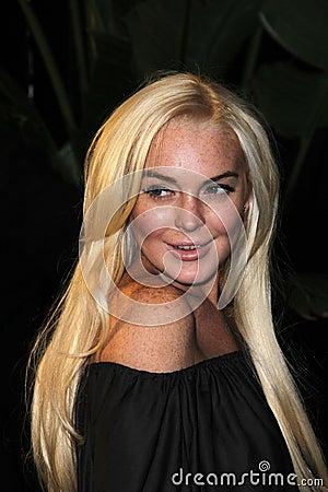 Lindsay Lohan Redactionele Afbeelding