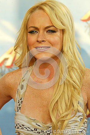 Lindsay Lohan Editorial Stock Image