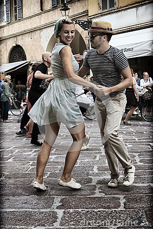 Free Lindy Hop Flash Mob Stock Image - 33649681