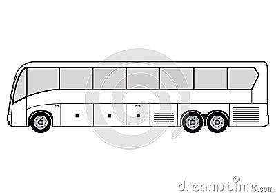 Line Art Bus Stock Photos Image 718803
