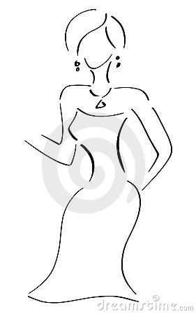 Line Art Lady