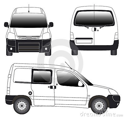 Line art - mini van