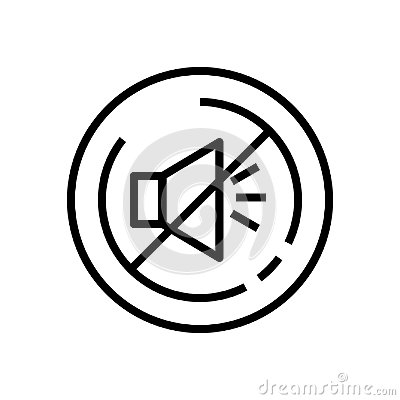 Free Line Art. Mute Loudspeaker Line Icon, Outline Vector Sign, Linear Style Pictogram Isolated On White. Royalty Free Stock Images - 123460949
