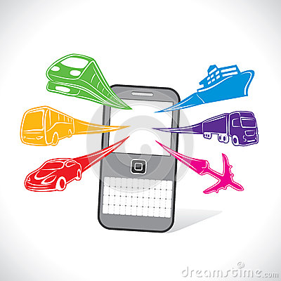 On-line booking services of transport stock