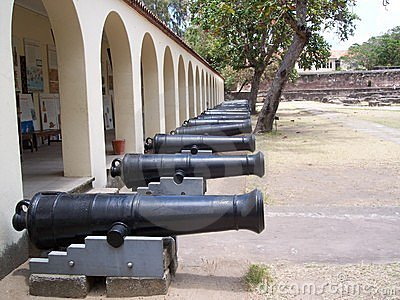 Line of canons fort jesus