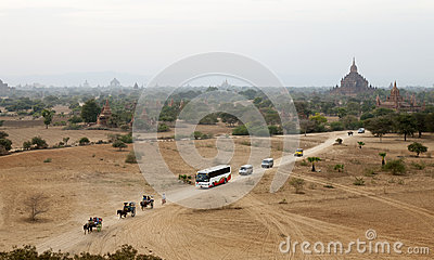 Tourist Traffic Editorial Stock Photo