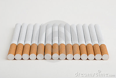 A line of cigarettes
