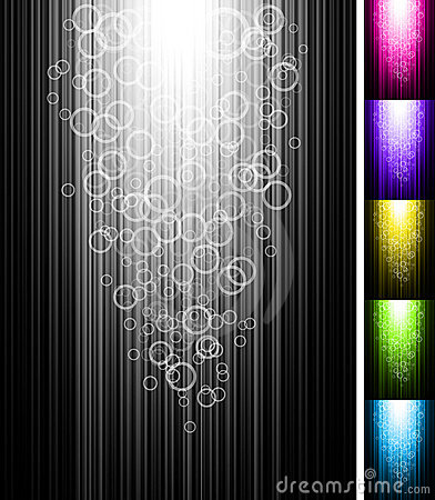 Line with circles shine vertical background