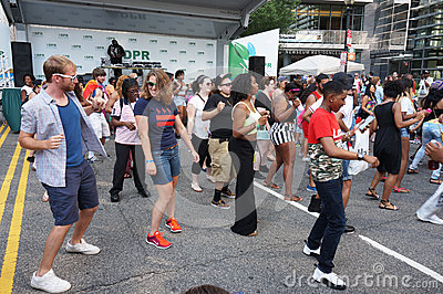 Line Dance at the Festival