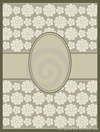 Line drawing floral frame. vector