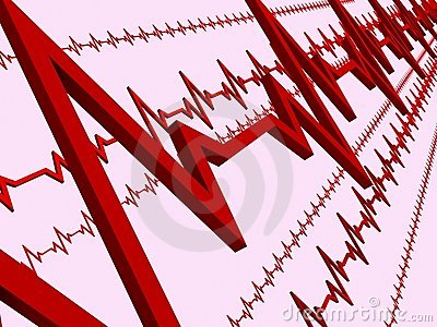 Line ECG heart