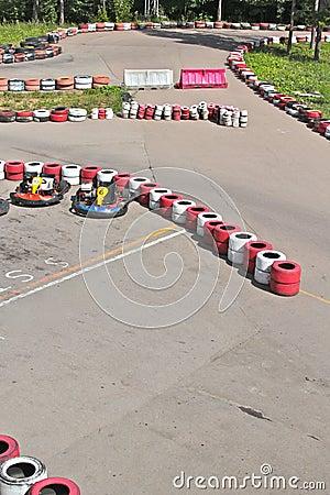 Line for go-kart