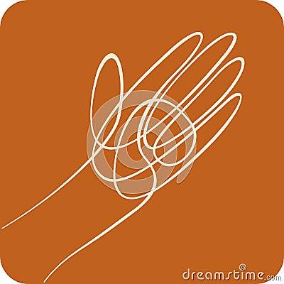Line hand (vector)