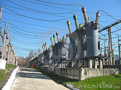 Line of high voltage electric converters