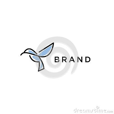 Free Line Hummingbird Logo Stock Images - 119619404