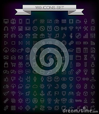 169 line icons
