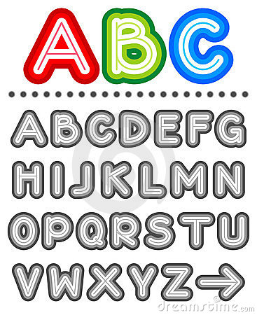 Free Line Letters Alphabet Set Royalty Free Stock Photos - 9270058