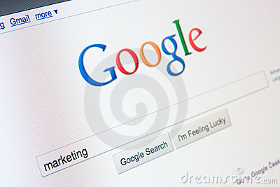 On-line marketing with Google Editorial Photo