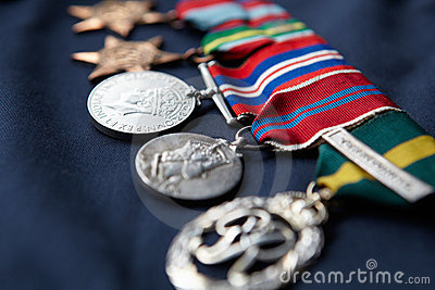 Line of medals