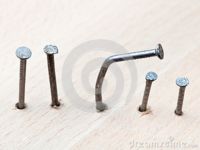 Line of nails