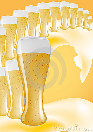 Free Line Of Beers Stock Photo - 20811720