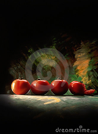 Free Line Of Tomatoes Royalty Free Stock Image - 2128536