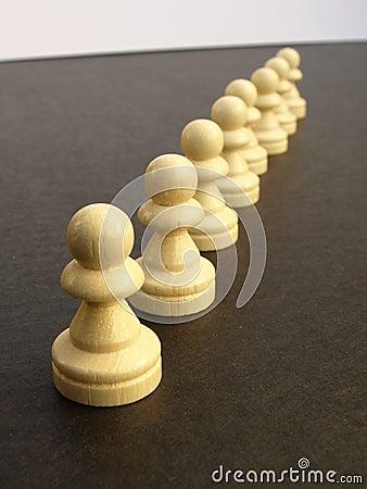 Line of pawns