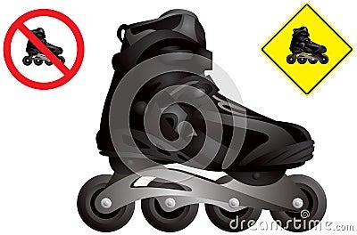 In line roller skate