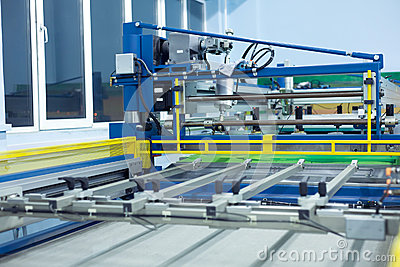 Line screen printing machine
