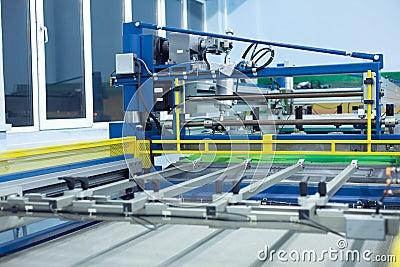 Line screen printing machine