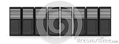 Line of Server Racks