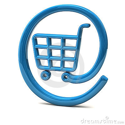 On-line shopping icon 3d