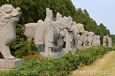 Line of Statues at Song Dynasty Tombs, China