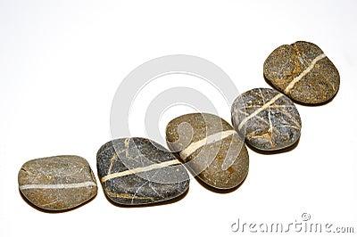 Line on stones