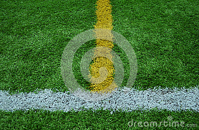 Line stripe on the green Grass