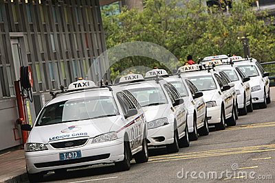 Line of taxi cabs in sydney, australia. Editorial Image
