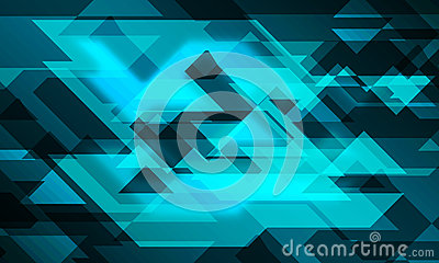 Line triangle 3D glowing background