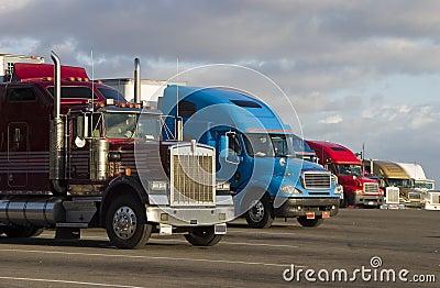 Line of Trucks 1