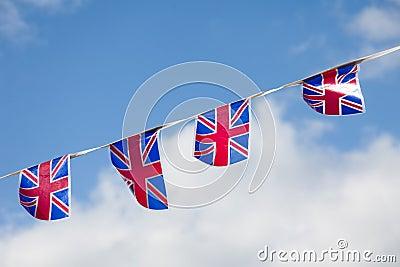 Line of Union Jack Bunting