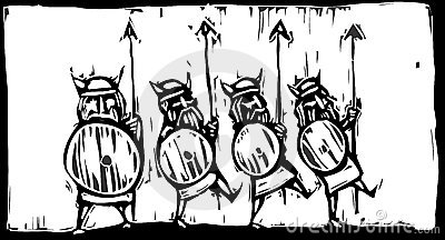 Line of Vikings