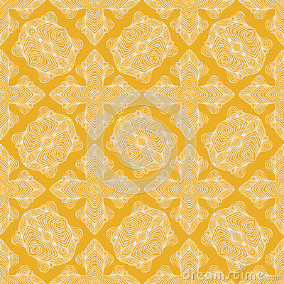 Linear art deco vector seamless pattern