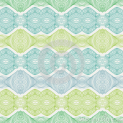 Linear seamless lace pattern in green shades