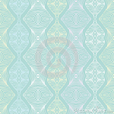 Linear seamless lace pattern in pastel colors