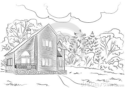 Cottage in the woods