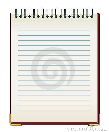 Lined note pad